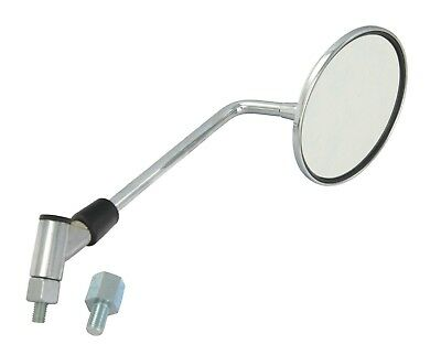 NEW MOBILITY SCOOTER MIRROR 8mm + 10mm ADAPTOR FITS LEFT OR RIGHT SINGLE MIRROR