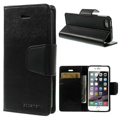 iPhone 5 5s SE Genuine MERCURY Goospery Black Flip Case Wallet Cover FREE Post