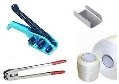 COMPLETE KIT Strapping Banding Wrapping Sealing Machine TENSIONER Clamp 12mm box