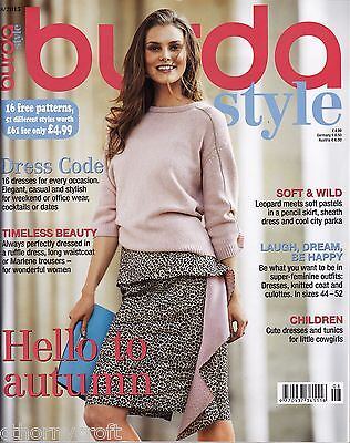 Burda Style Mag 8/2015 Dresses,Tops, Leopard Prints, Cowgirl -16 Uncut Patterns