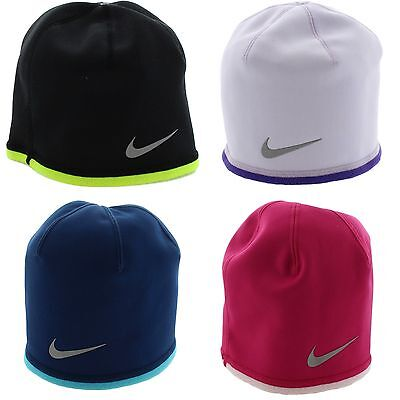 Nike 577041 Youth Girls Boys Winter Therma-Fit Fleece Reversible Beanie Hat