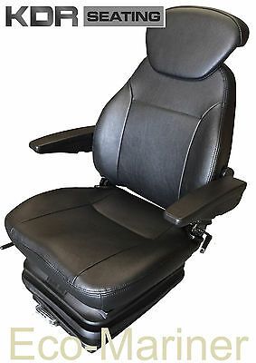 Value Marine Suspension Seat Helm Chair - Captains Pilot Boat Fishing Trawler