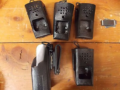 Lot of 5 Black Cell Phone Holsters.