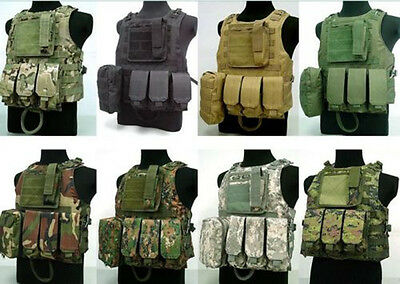 Hunting Tactical Vests Military Airsoft Molle Combat Assault Plate Carrier Vest