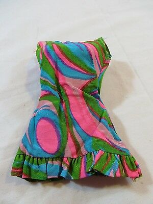 Vintage Original Mod Barbie #1822 Swirly Cue Dress