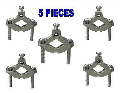 5 Pieces Cold Water Pipe Ground Clamps Zinc fits 1/2-1 UL Approved Perfect 10