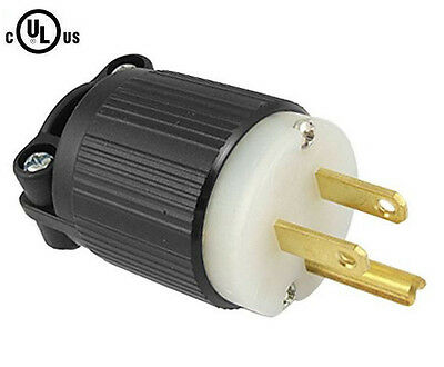 515PR Plug, 5-15P 15A 125V Straight Blade Male Plug, Commercial Heavy Duty Nylon