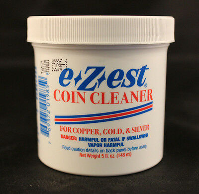 COIN CLEANER - E-Z-EST - COPPER, GOLD, SILVER - 5 Oz. Jar