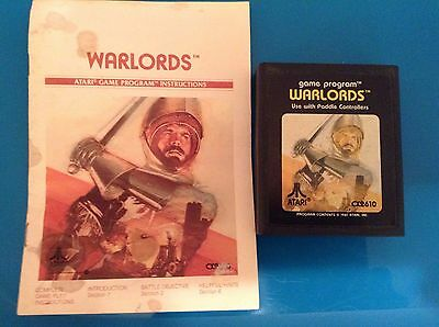Atari 2600 Game Cartridge With Instructions:  Warlords 1981 Vintage, Rare