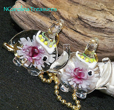 Circus Parade Pink Elephant Elephants Floral Glass Ceiling Fan Switch Pull Lg Pr
