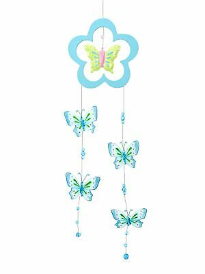 Mousehouse Pretty Pink Glittery Butterfly Mobile  Room Decoration