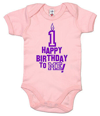 "Baby Birthday Bodysuit ""Happy Birthday to Me"" First 1st One 1 year old Boy Girl"
