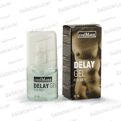 CoolMann | Ejaculation Delay Gel for Men, 30ml (Free, Fast, Discreet Delivery)