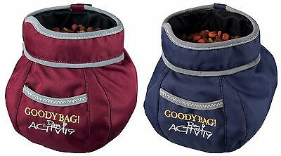 Trixie Snap Shut Keep Fresh Dog Training Treat Bag with Pocket & Belt Clip 32281