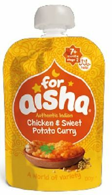 For Aisha Authentic Indian Chicken & Sweet Potato Curry 130g (Pack of 6)