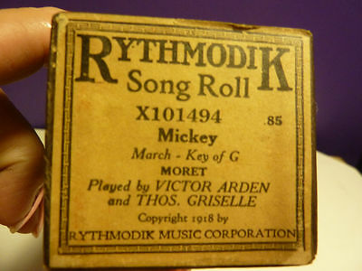 Vintage Piano roll RYHTMODIK X101454 MICKEY by Arden