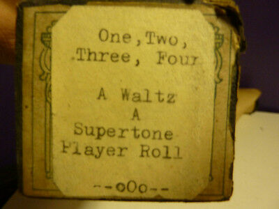 Vintage Piano roll SUPERTONE  # 1078 One Two Three Four WALTZ 1917 Kalama - Alau