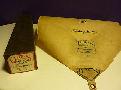Vintage Piano roll Q.R.S. # 9218  IT'S the TALK of the TOWN Max Kartlander 1942