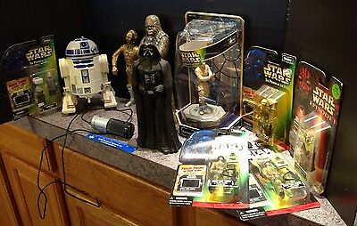 Lot of 10 Star Wars items Vader Chewie C3PO  2 Endor Ugnaughts Anakin Figures