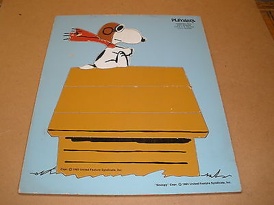 Playskool peanuts SNOOPY Chaising the Red Baron wood PUZZLE