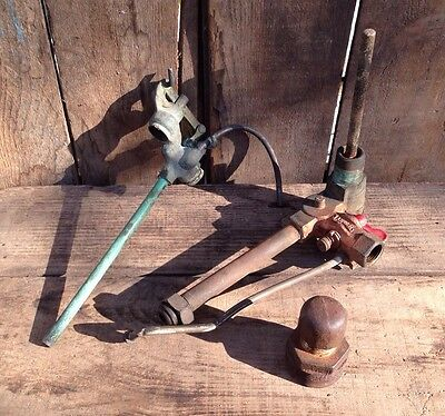 Lot of 2 Vintage Valves ~ Vintage Hardware ~ Vintage Farm Tools