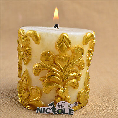 3D Pillar Silicone Candle Mold Soap Mould Handmade Decorating Making Tools Cake