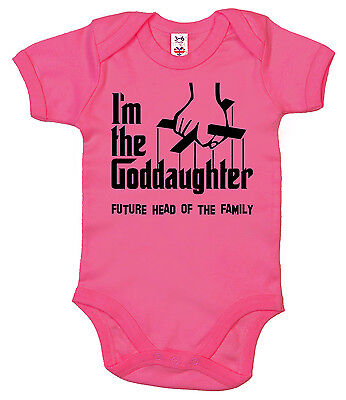 "Baby Godfather Bodysuit ""I'm the Goddaughter"" Babygrow Christening Gift"