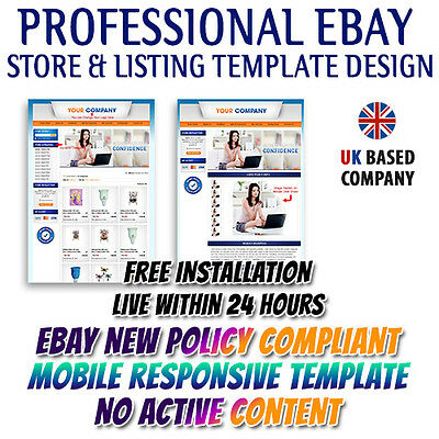 eBay Listing Mobile Responsive Template and Dynamic eBay Store Shop Templates