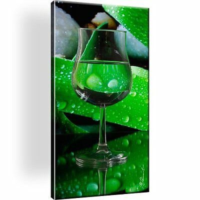 Glas Picture on Canvas. Nature. With Stretcher! XL