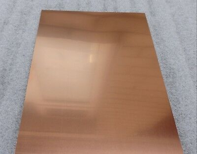 Copper Sheet Metal  A4 Size, 300mm x 210mm - Many Thickness'