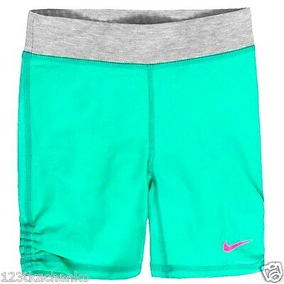 Nwt Girls Nike Dri Fit Gymnastics/biker Shorts Size 5 Youth 362869-E34 Blue