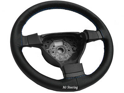 Real Perforated Leather Steering Wheel Cover For Mitsubishi Colt Mk6 Sky Blue St