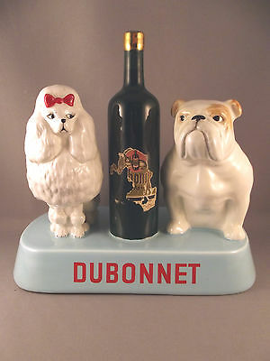 RARE Beswick Dogs N°1873 Advertising Dubonnet  with Poodle & Bulldog c.1963