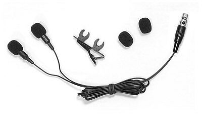 Pyle PLMS48 Dual Electret Condenser Cardioid Lavalier Microphone shure system