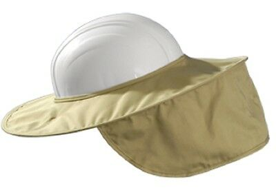 Occunomix MiraCool Stow-Away Hard Hat Sun Shade Protects Neck Face KHAKI #899