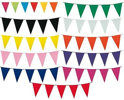 10m / 33FT LARGE COLOUR BUNTING FLAGS PENNANTS PARTY DECORATIONS PARTIES