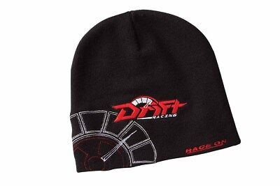 Drift Racing Adult Beanie / Hat - OSFM - Black / Red 5255-507