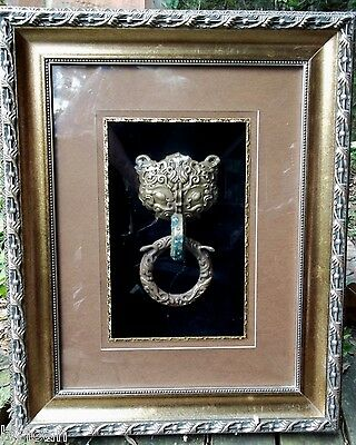 Huge Deep Frame with Designer Details/Chinese Temple Door Knocker