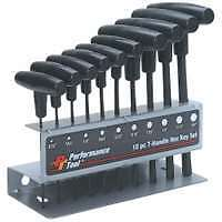 10 Piece SAE T-Handle Hex Key Set