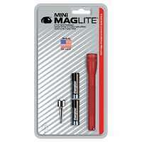 Ultra Mini MagLite® Red Flashlight with Belt Clip and 2 AAA Batteries