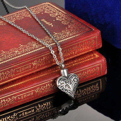 Celebration Heart Stainless Steel Cremation Jewelry Ashes Urn Necklace