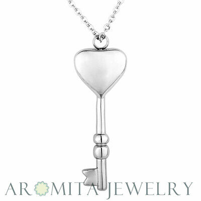 Key to my heart Cremation Jewelry Keepsake Memorial Urn Necklace Ash Holder