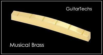 """GuitarTechs MALMSTEEN 1 5/8"""" CURVED SLOTTED BRASS NUT made for Fender Strat"""