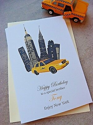 Personalised Birthday Card New York City 16th 18th 21st 30th 40th