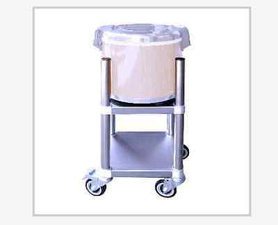 """14 1/2""""x 14 1/2"""" with wheels rice warmer stand, 4 post on top"""