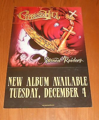 Cypress Hill Stoned Raiders Poster 2-Sided Flat Square 2001 Promo 12x18