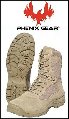 Phenix Gear Womens FAS Fast Assault Series Tan Combat Boots 11.5 W 11 1/2 Wide