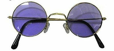 Hippy Hippie John Lennon Round Purple Ozzy Granny Fancy Dress Sunglasses