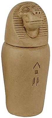 Egyptian Canopic Jar of Baboon Hapi Removable Lid 4.5H E-083S
