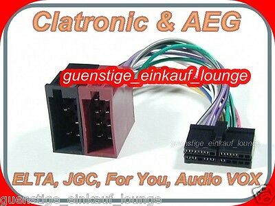 AEG PROLOGY CLATRONIC AUDIO VOX FOR YOU Cable Plug ISO Car Radio Adapter